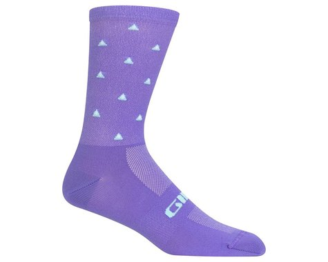 Giro Comp Racer High Rise Socks (Electric Purple Mountains) (S)