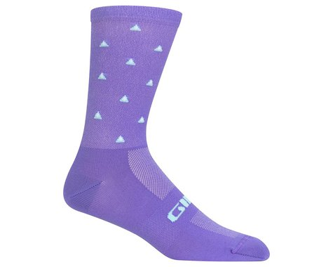 Giro Comp Racer High Rise Socks (Electric Purple Mountains) (XL)