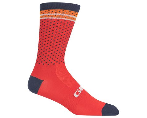 Giro Comp Racer High Rise Socks (Red/Orange Toner) (S)