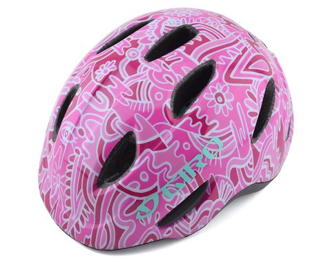 SCRATCH & DENT: Giro Kids's Scamp Bike Helmet (Pink Flower Land) (XS)