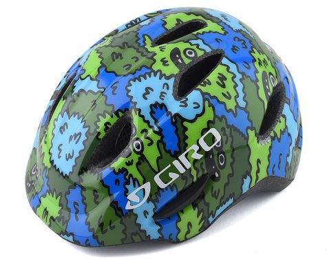 Giro Kid's Scamp MIPS Helmet (Blue/Green Creature Camo)