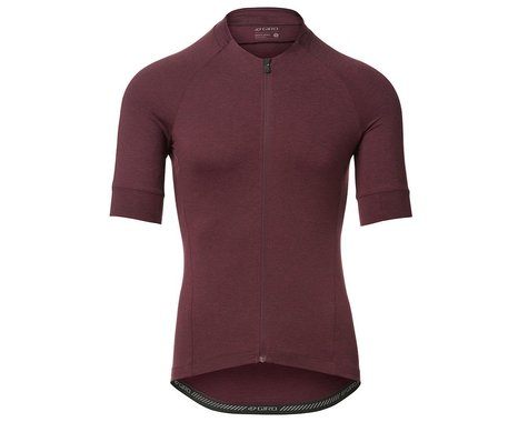 Giro Men's New Road Short Sleeve Jersey (Ox Blood Heather) (M)