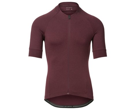 Giro Men's New Road Short Sleeve Jersey (Ox Blood Heather) (L)