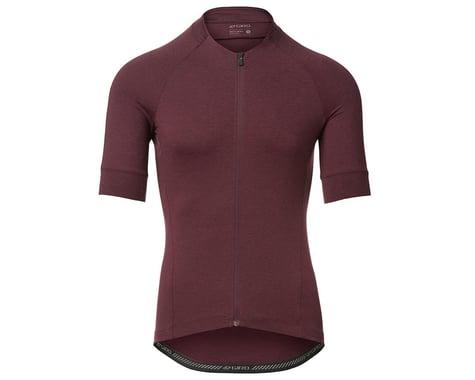 Giro Men's New Road Short Sleeve Jersey (Ox Blood Heather) (XL)