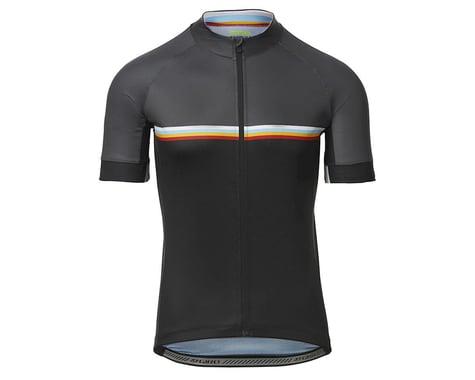 Giro Men's Chrono Sport Short Sleeve Jersey (Black Classic Stripe) (S)
