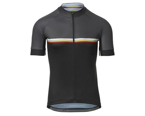 Giro Men's Chrono Sport Short Sleeve Jersey (Black Classic Stripe) (M)