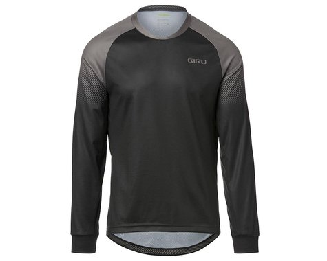 Giro Men's Roust Long Sleeve Jersey (Black/Charcoal Transition) (S)