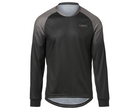 Giro Men's Roust Long Sleeve Jersey (Black/Charcoal Transition) (M)
