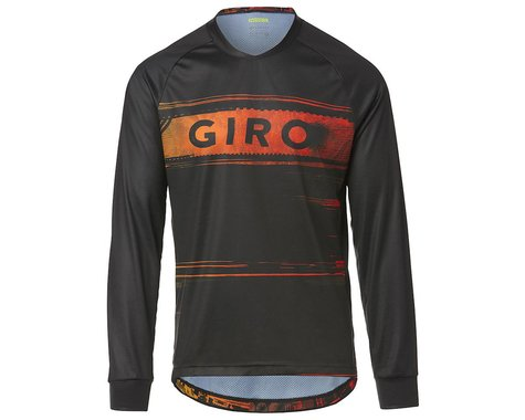 Giro Men's Roust Long Sleeve Jersey (Black/Red Hypnotic) (2XL)