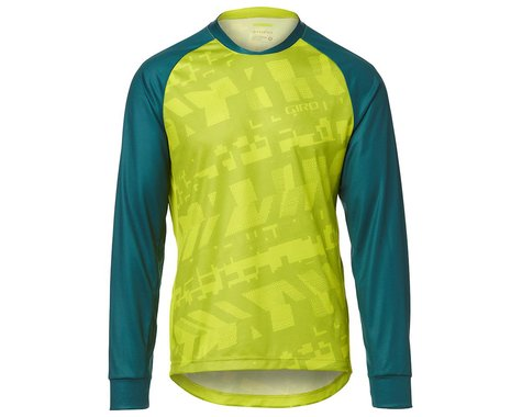 Giro Men's Roust Long Sleeve Jersey (Citron Green Fanatic) (2XL)