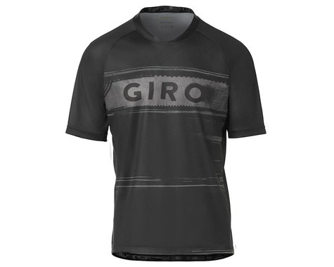 Giro Men's Roust Short Sleeve Jersey (Black/Charcoal Hypnotic) (S)