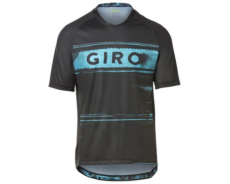 Giro Men's Roust Short Sleeve Jersey (Black/Iceberg Hypnotic) (L)