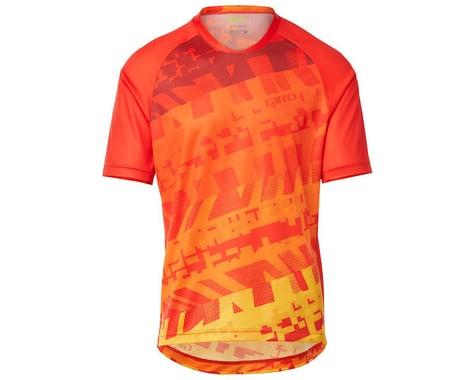 Giro Men's Roust Short Sleeve Jersey (Red/Orange Fanatic) (XL)