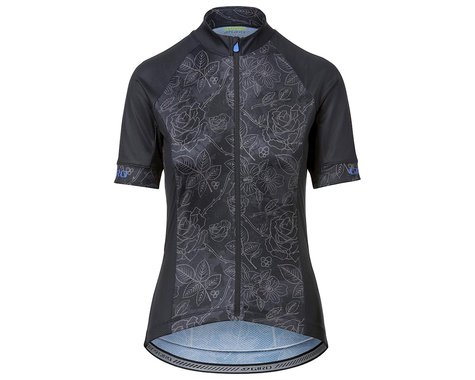 Giro Women's Chrono Sport Short Sleeve Jersey (Black Floral) (S)