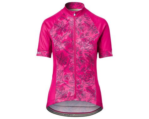 Giro Women's Chrono Sport Short Sleeve Jersey (Pink Floral) (XL)