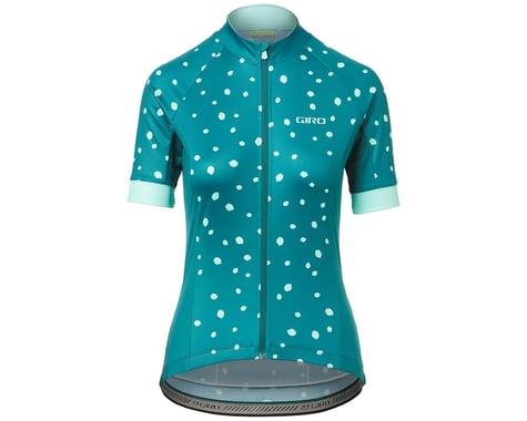 Giro Women's Chrono Sport Short Sleeve Jersey (True Spruce Blossom) (M)