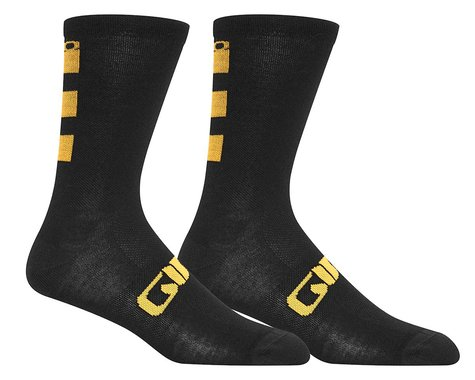 Giro Seasonal Merino Wool Socks (Glaze Yellow/Black) (L)