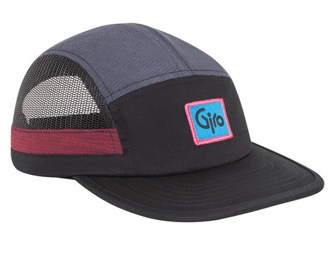 Giro 5-Panel Athletic Cap (Black/Grey) (One Size)