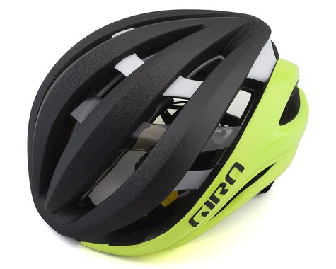 Giro Aether Spherical Road Helmet (Matte Black Fade/Highlight Yellow) (M)