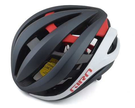 Giro Aether Spherical Road Helmet (Matte Portaro Grey/White/Red) (S)