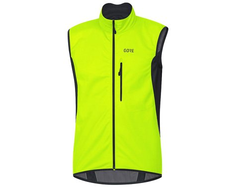 Gore Wear C3 Gore Windstopper Vest (Neon Yellow/Black) (S)