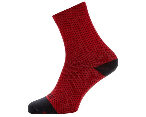 Gore Wear C3 Dot Mid Socks (Red/Black) (S)