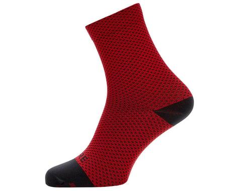 Gore Wear C3 Dot Mid Socks (Red/Black) (XL)