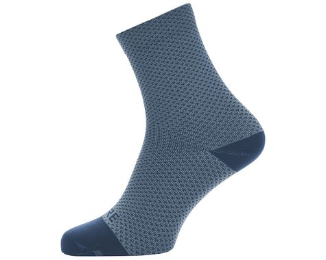 Gore Wear C3 Dot Mid Socks (Cloudy Blue/Deep Water Blue)