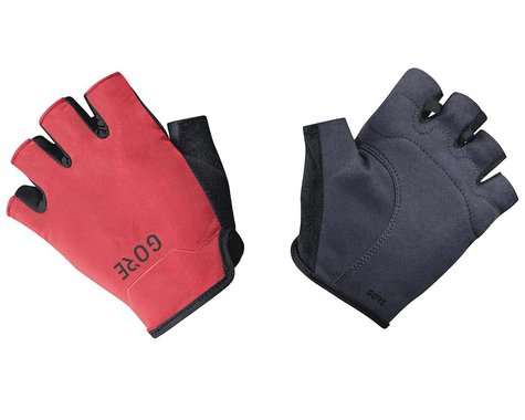 Gore Wear C3 Short Finger Gloves (Black/Hibiscus Pink) (L)