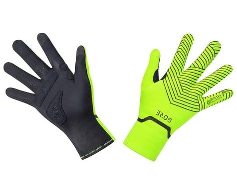 Gore Wear C3 Gore-Tex Infinium Stretch Mid Gloves (Neon Yellow/Black) (L)
