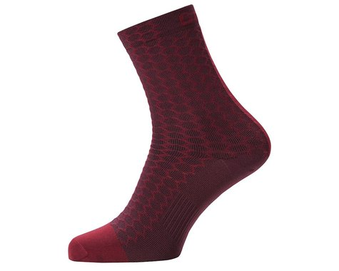 Gore Wear C3 Heptagon Mid Socks (Red) (S)