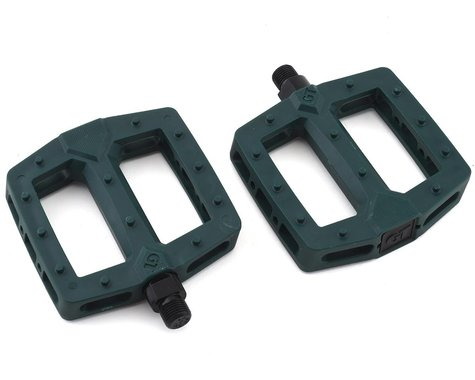 "GT PC Logo Pedals (Green) (Pair) (9/16"")"