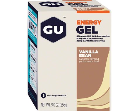 GU Energy Gel (Vanilla Bean) (8 1.1oz Packets)
