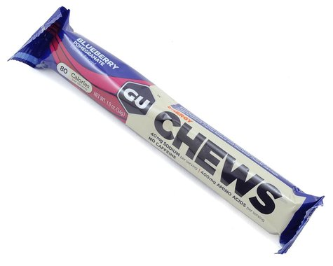 GU Energy Chews (Blueberry Pomegranate) (18 1.9oz Packets)
