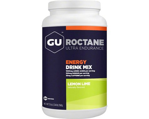 GU Roctane Energy Drink Mix: Lemon Lime~ 24 Serving Canister
