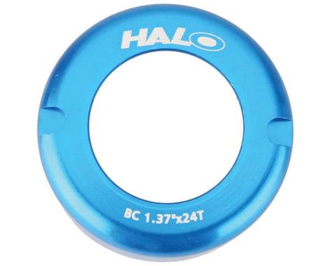 Halo Wheels Fix-T alloy thread cover cap, blue