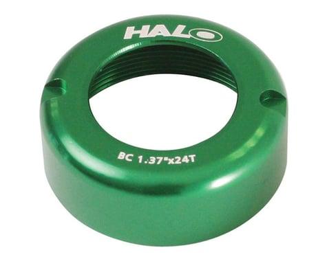 Halo Wheels Fix-T alloy thread cover cap, green