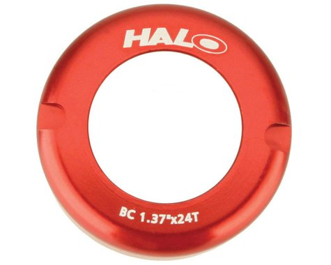 Halo Wheels Fix-T alloy thread cover cap, red