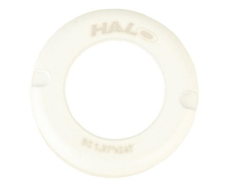 Halo Wheels Fix-T alloy thread cover cap, white