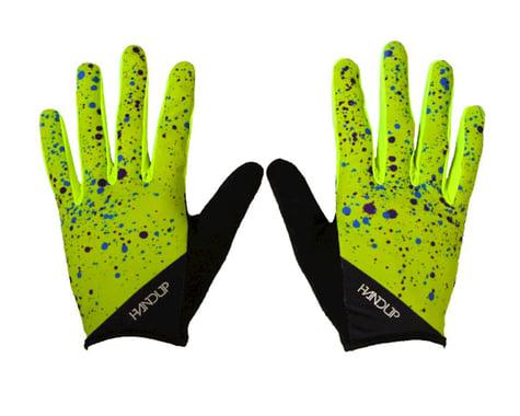 Handup Braaap Gloves (Splatter - Hi Viz Yellow/Cyan)