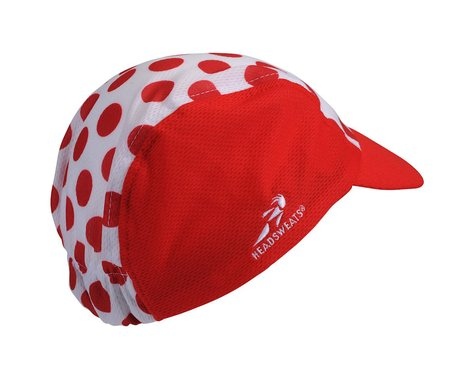 Headsweats Tour de France Polka Dot Cycle Cap (Red/White) (One Size)