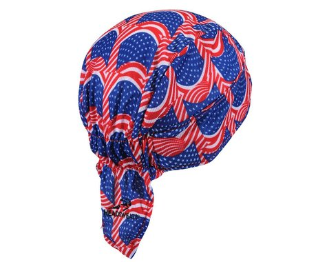 Headsweats Shorty Flag Skull Cap - Performance Exclusive (Red/White/Blue) (One Size)