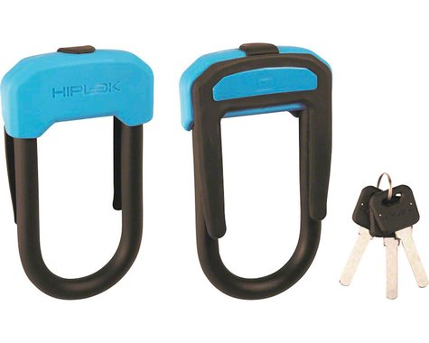 Hiplok D Wearable Hardened Steel Shackle U-Lock (Black & Cyan) (13mm)