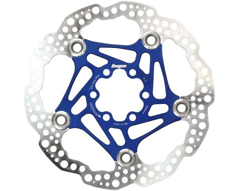 Hope Floating Disc Brake Rotor (Blue) (6-Bolt) (1) (160mm)