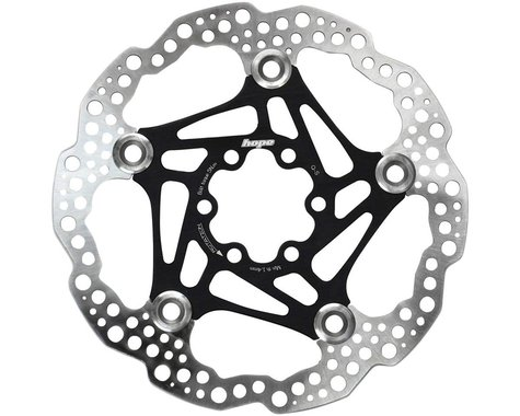 Hope Floating Disc Brake Rotor (Black) (6-Bolt) (1) (160mm)