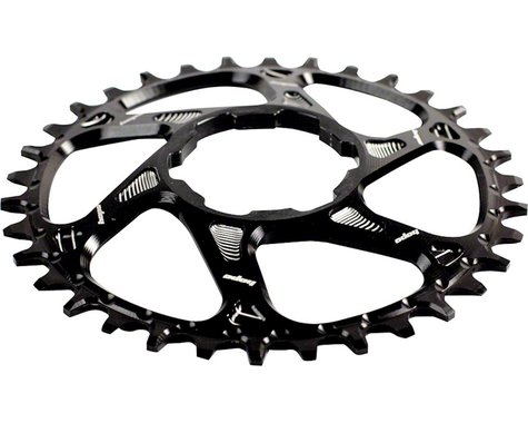Hope Spiderless Direct Mount Chainring (Black) (Hope) (6mm Offset) (34T)
