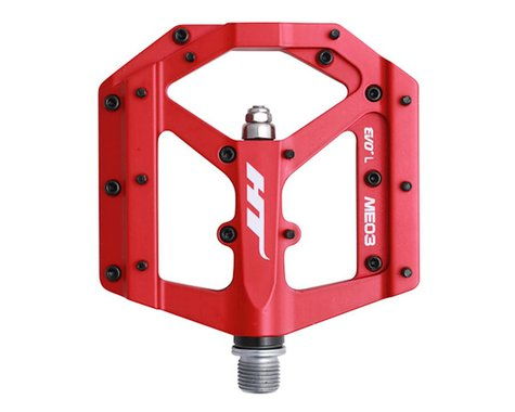 HT ME03 Evo Platform Pedals (Matte Red) (CrMo)