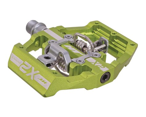 HT X2 Clipless Platform Pedals (Apple Green) (Chromoly)