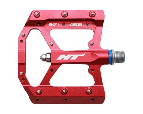 """HT AE05 Evo+ Pedals - Platform, Aluminum, 9/16"""", Red"""