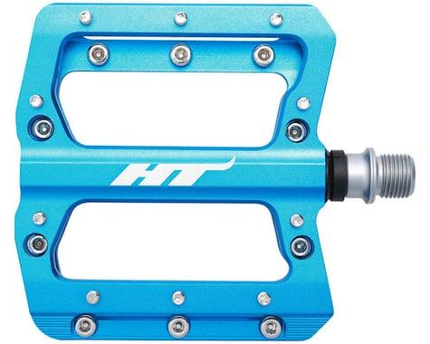 """HT AN14A Nano Pedals - Platform, Aluminum, 9/16"""", Marine Blue"""